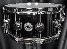 DW Drums Drum Workshop 6.5x14 Collector's Snare Black Nickel / Brass w/ Chrome