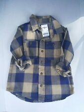 New OshKosh Bgosh Boy Flannel Plaid Shirt. Button Down...