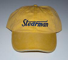 STEARMAN Cap Yellow with Navy logo  FREE SHIPPING
