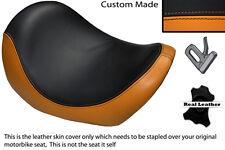 BLACK & ORANGE CUSTOM FITS HARLEY DAVIDSON V-ROD VRSC 01-09 FRONT SEAT COVER