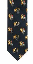 Horse Racing Silk Neck Tie Blue Jockey Trainer Mens Gift