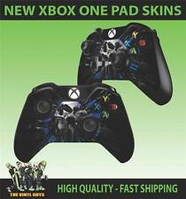 XBOX ONE CONTROLLER PAD STICKER TIME OF DEATH SKULL CLOCK GOTHIC SKINS X2