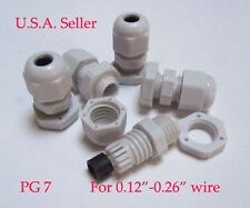 5 PC PG7 Plastic Cable Grip Stain Relief. New