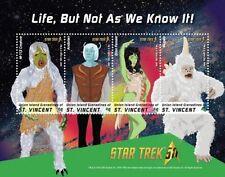 St Vincent Union Isl. - 2016 Star Trek Anniv. - 4 Stamp Sheet