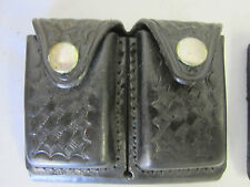 """Safety Speed Holster Dual Ammo Dump / Strip Pouch 4.5""""Wx 3.75""""H Leather Basket"""