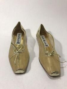 Anne Klein flat  Women Sz 6.5M Shoes Loafers gold