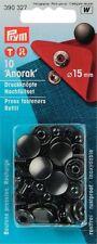 PRYM Nachfüllpackung Anorak Druckknöpfe 15 mm brüniert
