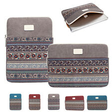 """Notebook Cover Sleeve 13"""" 14"""" 15"""" Canvas Laptop Computer Case Pouch Bag For Dell"""