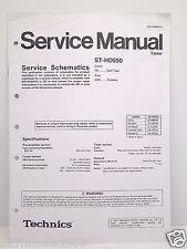 Technics Original Service Manual Schematics ST-HD550 Tuner