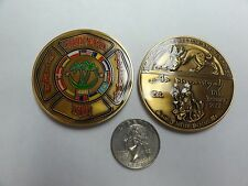 CHALLENGE COIN FIRE AND RESCUE CAMP ECHO IRAQ SAINT FLORIAN COALTION FORCES