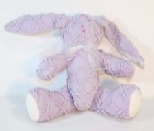 """QUILTED Darlings Plush Stuffed BABY BUNNY RABBIT Purple Rattle Toy Lovey 6"""""""