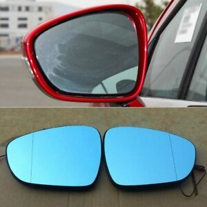 2pcs Power Heated w/Turn Signal Side View Mirror Blue Glasses For Peugeot 308