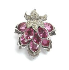 PENNINO Gorgeous Rose Pink Floral Fur Clip