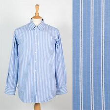 TOMMY HILFIGER STRIPED MENS SHIRT BLUE PREPPY OFFICE STYLE SMART SUIT XL
