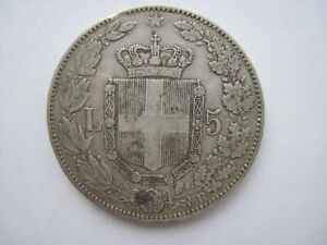 5 lire argent italie umberto Ier 1879 R TTB