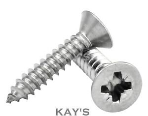 A4 MARINE GRADE STAINLESS STEEL COUNTERSUNK SELF TAPPING WOOD SCREWS CHIPBOARD
