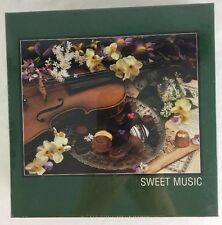 PuzzleMakers Sweet Music Jigsaw Puzzle 500 pc Violin Chocolate Candy Flowers NEW