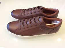 Coach C126 New Men's Brown Leather lo Tops Sneakers Size 11 $118.00