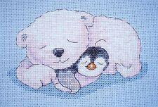 CL77 Snuggles - Pitt and Pat - Polar Bear and Penguin Cross Stitch Chart