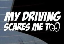 My driving scares mee too Car Wing Door Mirror Stickers Decal VW jdm funny