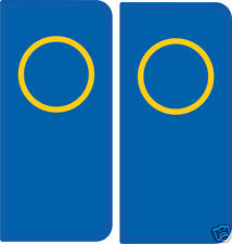 2 Stickers style immatriculation Europe ROND Italie - Tuning déco
