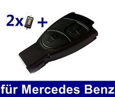 2T Autoschlüssel Gehäuse für Mercedes Benz W169 W202 W203 W208 W210 + 2x Taster