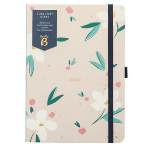 SECONDS Busy B Busy Life Diary Floral   Jan - Dec 2022   Weekly Dual Schedule