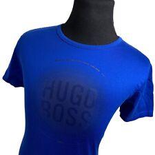 Hugo Boss Blue Gray Short Sleeve Casual Tennis Lifestyle T-Shirt Mens Large L