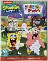 SPONGE BOB SQUAREPANTS Sticker Puzzle & Activity Book 100+ Stickers/Coloring-NEW