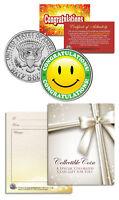 CONGRATULATIONS ANY OCCASION Gift Keepsake JFK Kennedy Half Dollar US Coin