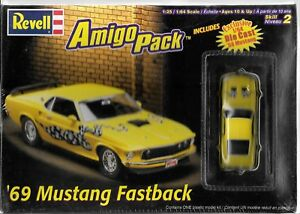 Sealed Revell '69 Mustang Fastback 1/25, Amigo Pack w/ '68 Diecast 1/64 6687