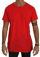 KM ZERO T-shirt Cotton Red Roundneck Short Sleeve Men Top IT52/US42/XL