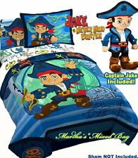 CAPTAIN JAKE and the  NEVERLAND PIRATES Boys Blue 5p Twin Size Comforter Set+Pal