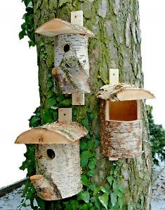 Nistkasten Meisenkobel Star Vogelhaus Altes Holz mit Reinigungsklap Futterhaus