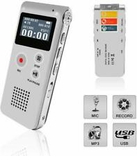 Voice Recorder, Digital Voice Recorder, MP3 Dictaphone with Playback, Rechargeab