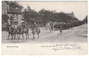 Litho Ak Braunschweig Unsere Husaren 1906 (A4092