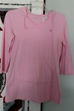 Danskin Hooded Long Sleeve Pink Pullover, Ladies Size Small