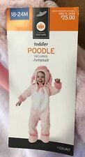 NWT Baby Toddler Plush PINK POODLE Puppy Dog Halloween Costume 18-24 Months NEW!
