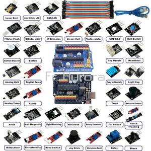 37 Sensor+UNO R3 PLUS Atmega328P+Nano Micro I/O Shield V3.0 Starter Kit  Arduino
