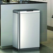 Large Capacity 80 Litre Stainless Steel Kitchen Bin Dustbin Waste Litter Rubbish
