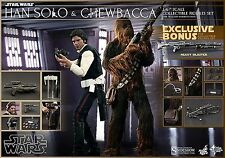 Hot Toys Star Wars Han Solo and Chewbacca 1/6 Scale Figure Set w/ Bonus