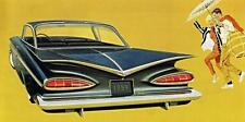 Old Print.  Black 1959 Chevrolet Impala Sport Coupe Automobile Ad