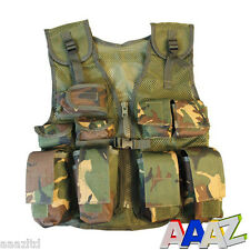 BOYS ARMY ASSAULT VEST BOYS GIRLS CLOTHING COSTUME DRESS UP SOLDIER FANCY DRESS