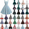 Womens Hepburn Vintage Rockabilly Party Pinup Swing Skater Housewife Retro Dress