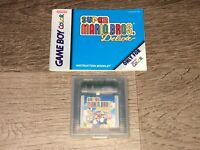 Super Mario Bros. Deluxe w/Manual Nintendo Game Boy Color Tested Authentic