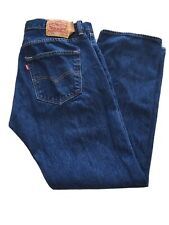 Vintage LEVI'S 501's Button Fly Men Red Tab STRAIGHT LEG Tag 36/30 Blue