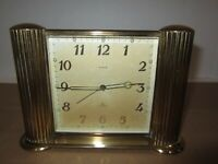 Semca Swiis Made Wind up Desk Clock 8-Day, 7 Jewels