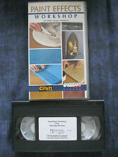 The Craft Club. PAINT EFFECTS WORKSHOP VHS VIDEO. Sally Hope-Hawkins. Lifestyle.