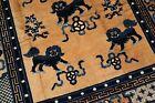 Antique Chinese Peking Foo Dog Rug Size 5'3''X8'2''