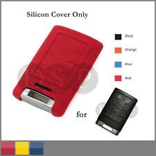 Leather Texture Silicone Cover fit for CADILLAC ATS SRX STS CTS DTS Key Case RD